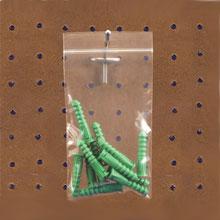 2 Mil. Reclosable Bags w/ Hanger Holes