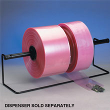 4 Mil. Amine-Free Pink Anti-Static Poly Tubing