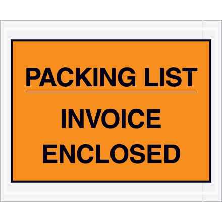 """Packing List/Invoice Enclosed"" Packing Envelopes"