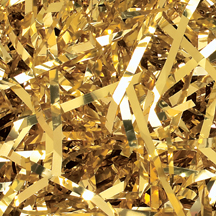 10 lb. Gold Metallic PureMetallic Shred Veryfine Cut