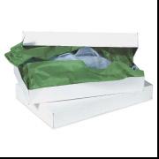 11 1/2 x 8 1/2 x 1 5/8 White Apparel Box 100/Case