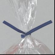 """6"""" x 3/16"""" Blue Paper Bag Tie 2000/Case"""