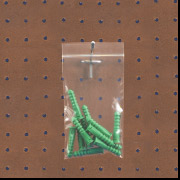 """5"""" x 12"""" 2 Mil. Zip Top Poly Bags with Hang hole 1000/Case-- Clearance --"""
