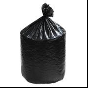 "23"" x 20"" x 47"" 63 Gallon 0.98 Mil. Black Trash Bags 100 Bags/Case"