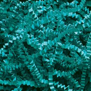 Teal Crinkle Cut Paper Shred 10 lbs/Case