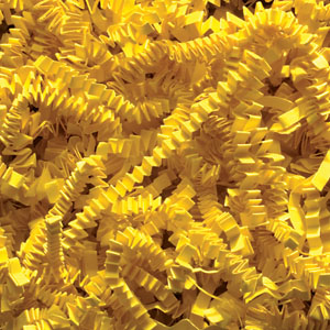 Yellow Crinkle Cut Paper Shred 10 lbs/Case