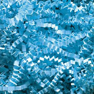 Sky Blue Crinkle Cut Paper Shred 10 lbs/Case