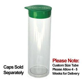 1 3/4 x 3 Round Clear Plastic Tubes 1.752 RD 1000/ctn