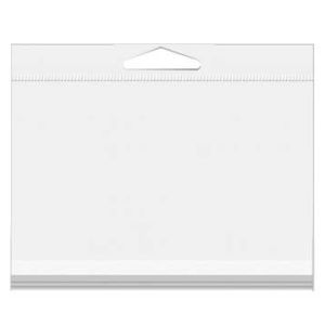 """5 7/8"""" x 4 1/2"""" A2/5.5 Bar Crystal Clear Hanging Bags 100/Pack"""