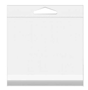 """6 7/16"""" x 6 1/4"""" Crystal Clear Hanging Bags 100/Pack"""