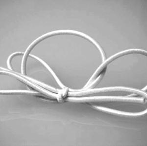 16 inch Solid White Stretch Loop (50 pack)