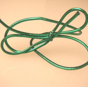 16 inch Metallic Green Stretch Loop (50 pack)