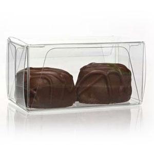 "1 3/8"" x 1 7/16"" x 2 3/4"" Chocolate Box with Insert (100 pack)"