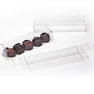 "1 3/8"" x 1 7/16"" x 6 1/4"" Chocolate Box (25 Pieces)"