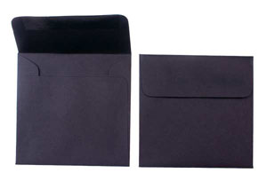 """Black, Premium Cougar® Opaque Envelopes 5 x 5"""" (50 pack)"""