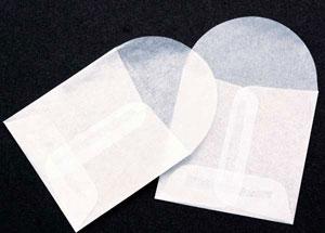 2 x 2 Glassine Open End Center Seam Envelope (50 pack)