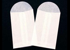 2 1/8 x 2 1/8 Glassine Open End Center Seam Envelope (50 pack)