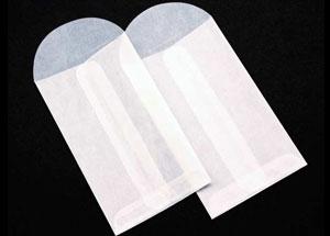 2 1/2 x 4 1/4 Glassine Open End Center Seam Envelope (50 pack)