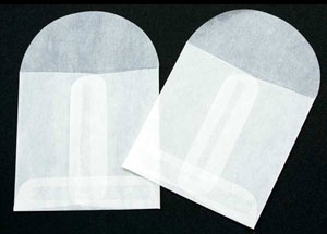 2 3/4 x 2 3/4 Glassine Open End Center Seam Envelope (50 pack)