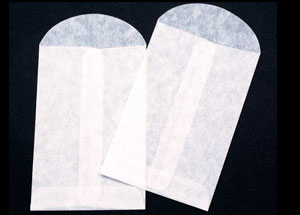3 x 4 1/2 Glassine Open End Center Seam Envelope (50 pack)