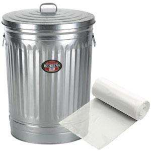 "16"" x 14"" x 36"" 20-30 Gallon 3 Mil. Trash Bags 200/Case"