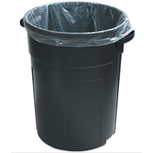 "25"" x 17"" x 48"" 56Gallon 3 Mil. Trash Bags 100 Bags/Case"