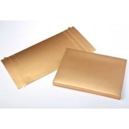 "3 3/4"" x 5/8"" x 5 3/8"" Gold Paper Box (25 Pieces)"