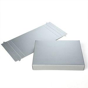 "3 3/4"" x 1"" x 5 3/8"" Grey Paper Box (25 Pieces)"