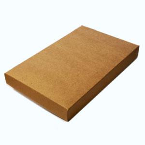 "5 7/8 x 4 1/2 x 1"" 2 Piece Rigid Set-up Natural Kraft Boxes, A2/5.5 Bar (100/Ctn)"