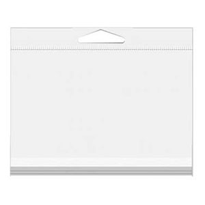 """6"""" X 4 1/2"""" A7/Lee Crystal Clear Hanging Bags 100/Pack"""