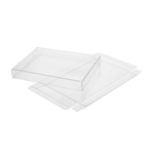 """8 1/8"""" x 5/8"""" x 8 1/8"""" Soft Fold Clear Boxes (25 Pieces)"""