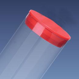 "1"" Red Packaging Tube Caps"