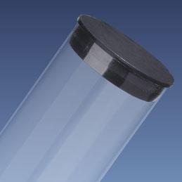 """1"""" Black Packaging Tube Caps"""