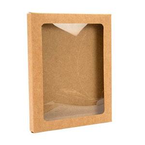 """4 1/2"""" x 5/8"""" x 5 7/8"""" A2 Window Kraft Box Set (25 Pieces)"""