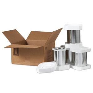 """17 x 17 x 9 5/16"""" 4 - 1 Gallon Foam Haz Mat Shipper Kit"""