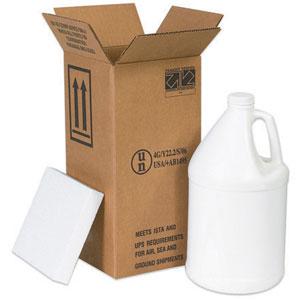 "6 x 6 x 12 3/4"" 1 - 1 Gallon Plastic Jug Shipper Kit"