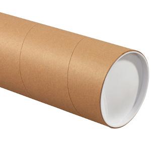 "5"" x 36"" Jumbo Kraft Tubes 15/Carton"