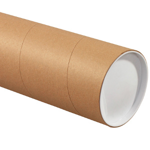 "5"" x 60"" Jumbo Kraft Tubes 15/Carton"
