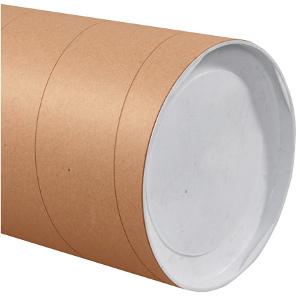 "10"" x 36"" Jumbo Kraft Tubes 8/Carton"