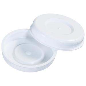 "2"" White Plastic End Caps 100/Case"