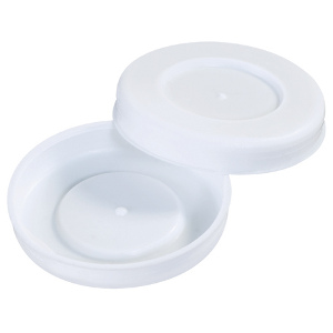 "2.5"" White Plastic End Caps 100/Case"