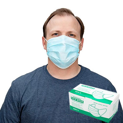 Disposable 3 Layer Mask, Anti Dust (50 Pieces) - DISCONTINUED -