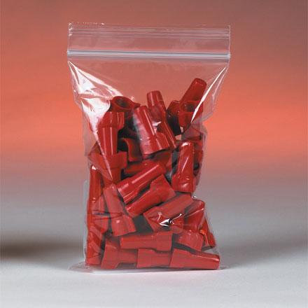 """4"""" x 4"""" 2 Mil. Zip Top Bags 1000/Case"""