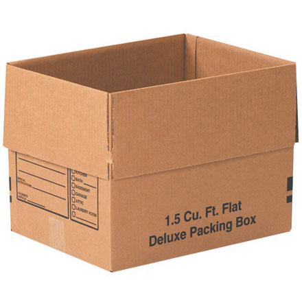 1.5 Cu. Ft. Flat Deluxe Packing Box 25/Bundle