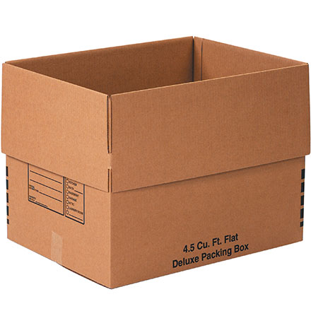 4.5 Cu. Ft. Flat Deluxe Packing Box 10/Bundle