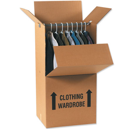 """24 x 22 x 60"""" Wardrobe Boxes 5/Bundle"""