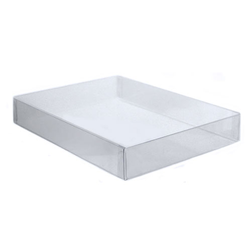 5 7/8 x 4 1/2 x 3/4 Clear Lid Boxes with Clear Base, A2/5.5 Bar 100/Ctn