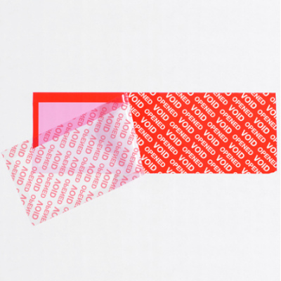 """2 x 5 3/4"""" Red Tape Logic Security Strips on a Roll 330 (Strips Per Roll) 24 Rolls/Case"""