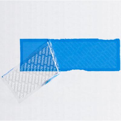 "2 x 5 3/4"" Blue Tape Logic Security Strips on a Roll 330 (Strips Per Roll) 24 Rolls/Case"