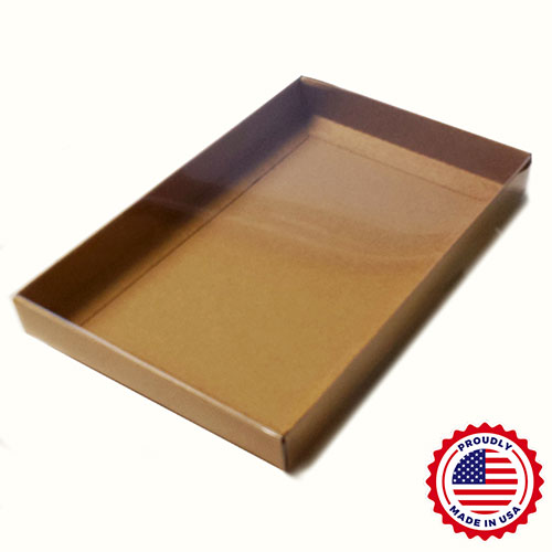 "A9 Clear Lid Boxes with Natural Kraft Base (8 7/8 x 5 7/8 x 1"") 50/Ctn"